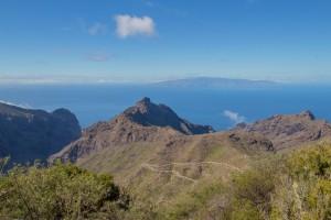 """Blick über die """"Masca Straße"""" nach La Gomera"""