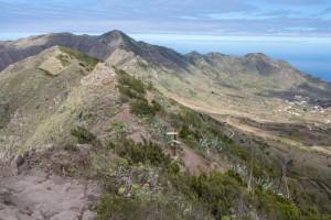 Cumbre der Carrizal - hier trennen sich die Wege in den Norden und nach Masca