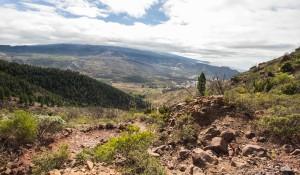 Blick vom Sattel der Degollada auf Santiago del Teide