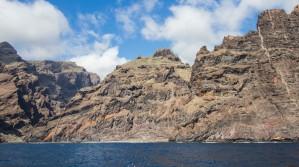 Felsen mit Blick auf Barranco Natero und Seco