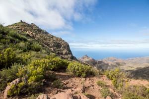 Blick Richtung La Gomera von der Degollada - links der Kleine Gala