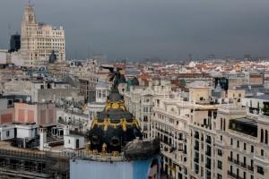 Blick über die Dächer von Madrid
