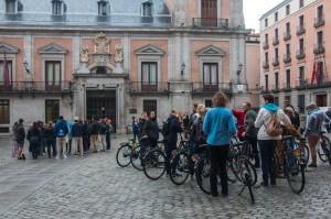 Plaza Callao mit Fahrradtouristen