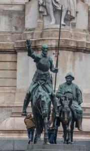 Plaza Espana mit Don Quijote und Sancho Panza
