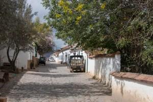 Villa de Leyva - tagsüber ruhige Straßen