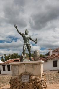 Villa de Leyva - Denkmal für den Freiheitskämpfer Antonio Ricuarte im Parque Ricuarte