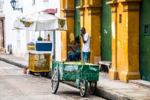 Cartagena - bunte Häuser in der Innenstadt