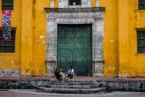 Cartagena - Kirchentür im Viertel Getsemaní