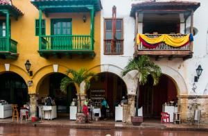 Cartagena im Regen