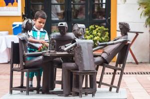 Cartagena - Rosttisch mit einem lebendigen Mitspieler