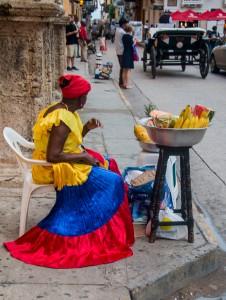 Cartagena - Fruchtverkäuferin