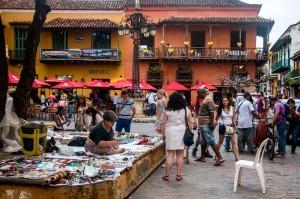 Cartagena - Markt und Restaurant