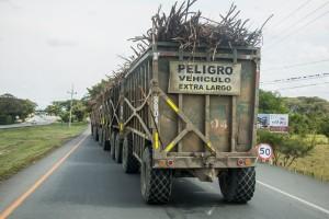 Truck mit vier Anhängern