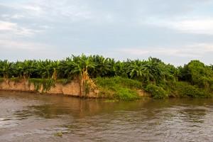 Kleine Fähre über den Rio Magdalena