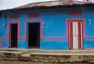 Palenque - neu errichtetes Wohnhaus, das die alten Hütten ersetzen soll