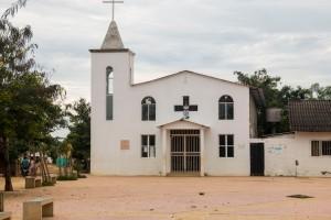 Palenque - Kirche mit Kirchplatz