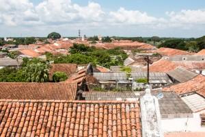 Mompox - Blick über die Dächer vom Kirchturm