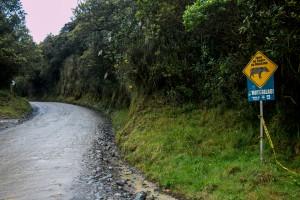 Fahrt von San Augustin nach Popayán auf einer Piste