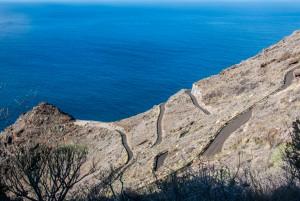 Tijarafe - Fahrweg Richtung Küste