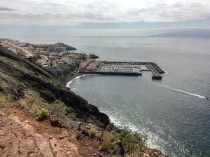 Ausblick auf den Hafen von Los Gigantes