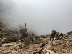 Wandern durch Wolken