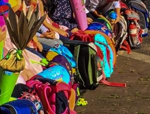 Viele Schulranzen - viele Schultüten