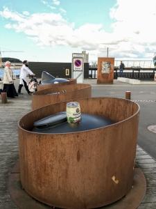 Dänischer Rost - Rostiger Behälter für Altglas