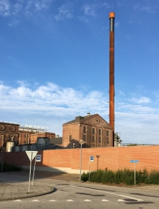 Dänischer Rost - Rostiger Schornstein ehemalige Aquavitfabrik - Aalborg
